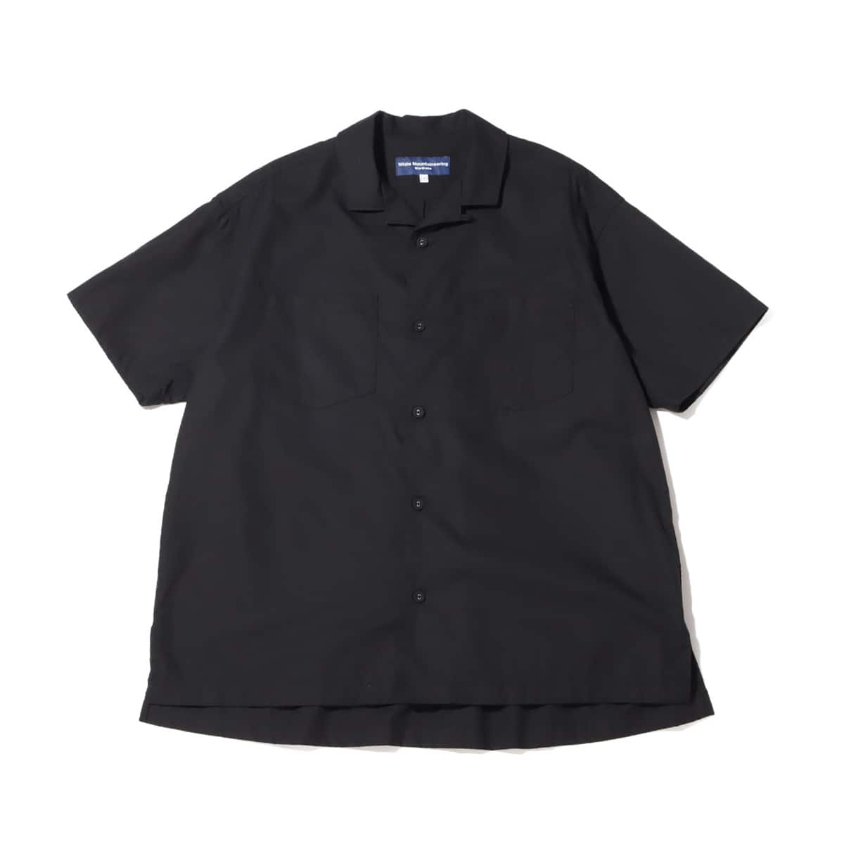 WHITE MOUNTAINEERING BROAD OPEN COLLAR SHIRT BLACK 21SP-I_photo_large
