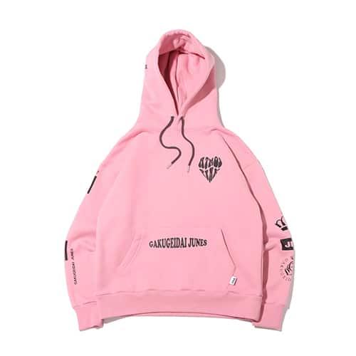 学芸大青春 × FILA × atmos pink HOODIE