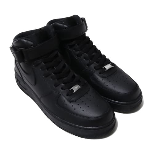 """NIKE AIR FORCE 1 MID '07 BLACK/BLACK 18FW-I"""