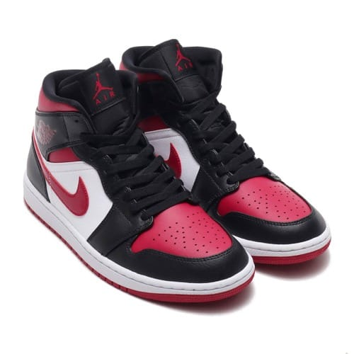 """""NIKE AIR JORDAN 1 MID BLACK/NOBLE RED-WHITE 20SP-S"""""