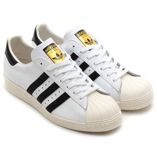 """adidas SUPERSTAR 80s  WHITE/BLACK 19SS-I"""