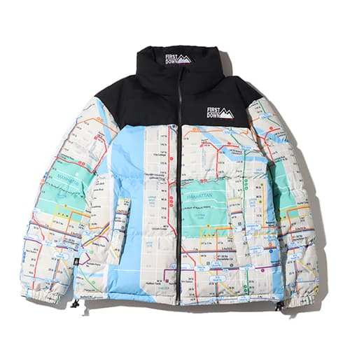 FIRST DOWN × atmos DOWN JACKET NEW YORK SUBWAY