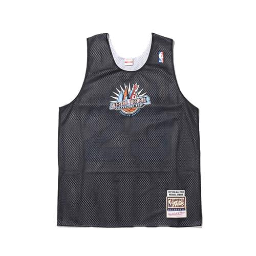 """Mitchell & Ness NBA AUTHENTIC PRACTICE JERSEY ALL STAR 1997 MICHAEL JORDAN BLACK/WHITE 20SU-I"""