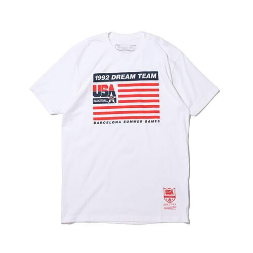 """Mitchell & Ness 1992 TEAM USA FLAG TEE WHITE 20SU-I"""