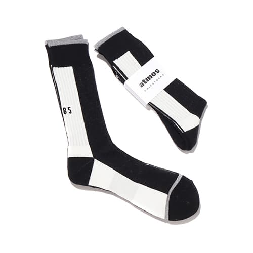 CHICSTOCKS x atmos 1985 RIB SOCKS BLACK/WHITE/SILVER 21SP-I