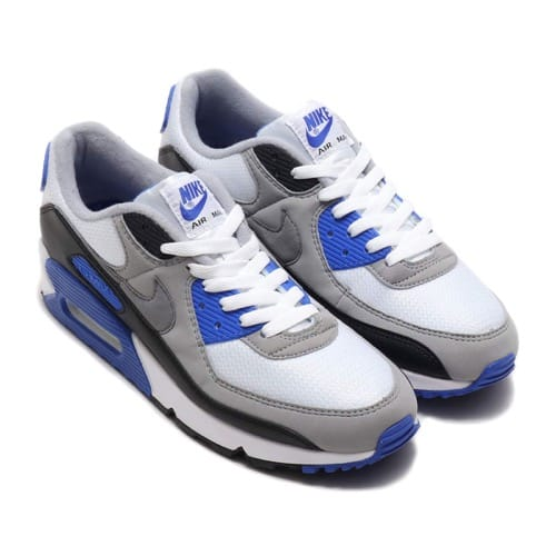NIKE AIR MAX 90 WHITE/PARTICLE GREY-HYPER ROYAL-BLACK 20SP-S