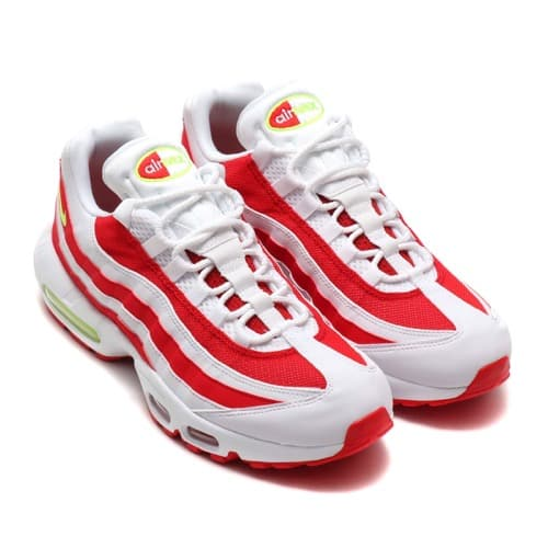 """NIKE AIR MAX 95 WHITE/VOLT-WHITE-UNIVERSITY RED 19FA-S"""