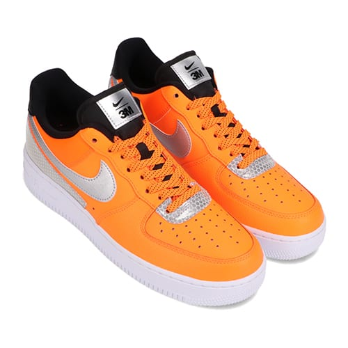 NIKE AIR FORCE 1 '07 LV8 3M TOTAL ORANGE/METALLIC SILVER-BLACK 20HO-I