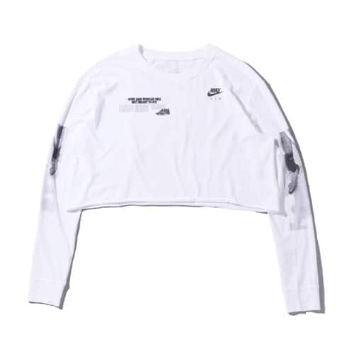 """""NIKE AS W NSW TEE LS CROP LUX RAW WHITE/FIRE PINK 20SU-I"""""
