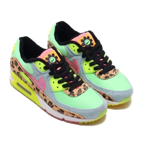 NIKE W AIR MAX 90 LX ILLUSION GREEN/SUNSET PULSE-BLACK-WHITE 20SP-S