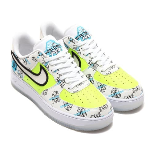NIKE AIR FORCE 1 '07 LV8 WW WHITE/WHITE-VOLT-BLUE FURY 20FA-I