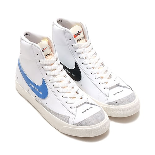NIKE W BLAZER MID '77 WHITE/PACIFIC BLUE-HABANERO RED-SAIL 20FA-I