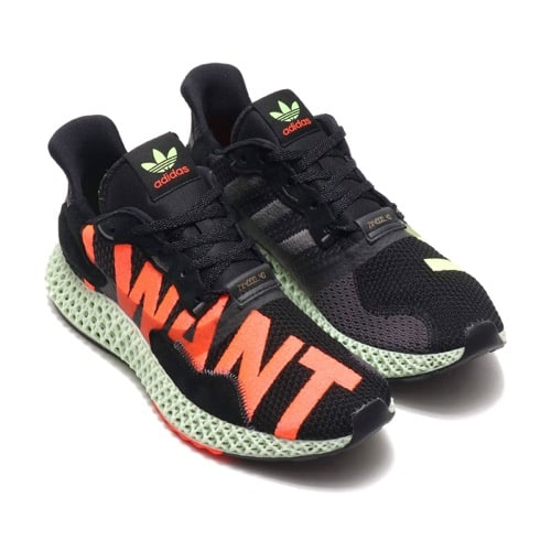 """""adidas ZX 4000 4D CORE BLACK/HIRES YELLOW/BRIGHT CYAN 19FW-S"""""