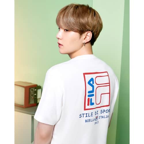 """""FILA Global Artist BTS着用 T-Shirt WHITE 20SS-S"""""