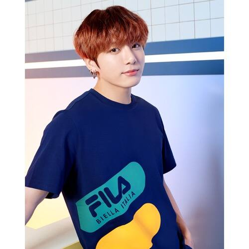 """""FILA Global Artist BTS着用 T-Shirt NAVY 20SS-S"""""