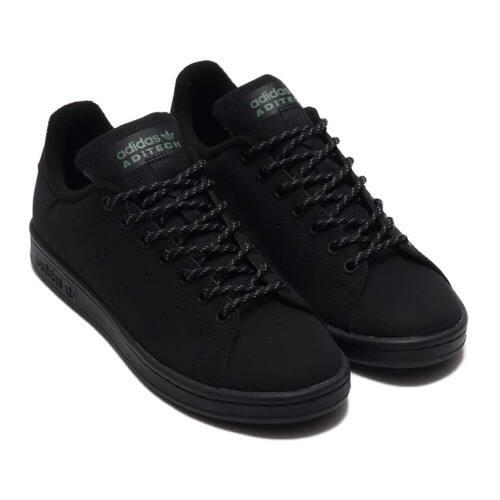 """adidas STAN SMITH CORE BLACK/CORE BLACK/TRACE GREEN 20SS-S"""