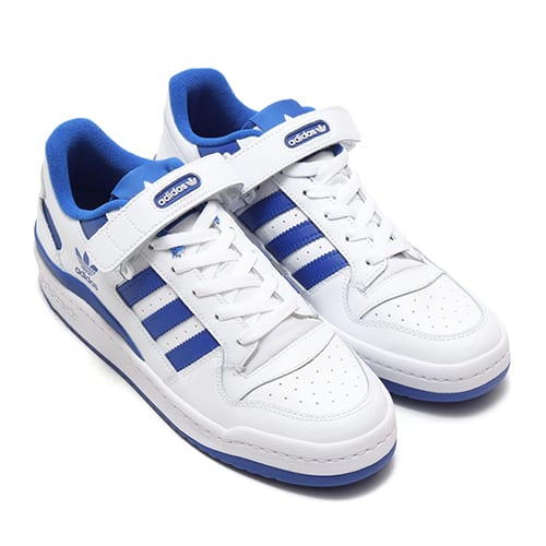 adidas FORUM LOW FOOTWEAR WHITE/FOOTWEAR WHITE/TEAM ROYAL BLUE 21SS-I