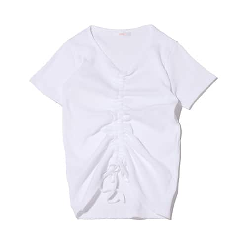atmos pink 前絞り リブ Tシャツ
