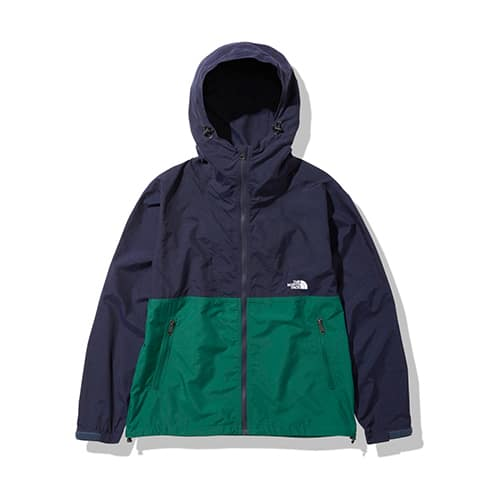 THE NORTH FACE COMPACT JACKET AVIATOR NAVY / EVER GREEN 21FW-I