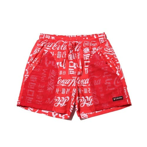 """COCA-COLA x Columbia x ATMOS LAB RIPTIDE TXT SHORT INTENSE RED 20SP-S"""