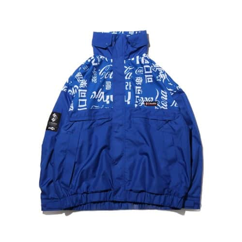 """COCA-COLA x Columbia x ATMOS LAB WOLF ROAD TXT JACKET AZUL 20SP-S"""