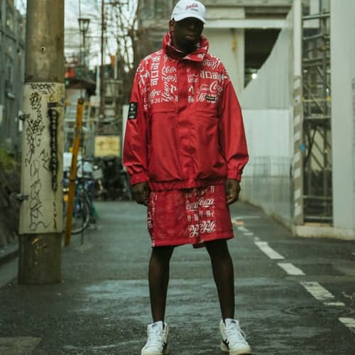 COCA-COLA x Columbia x ATMOS LAB WOLF ROAD TXT JACKET INTENSE RED 20SP-S