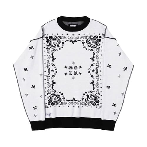 SUPPLIER PAISLEY CREW KNIT