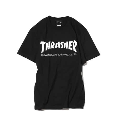 """THRASHER MAG LOGO T-SHIRTWHITE/BLACK/RED 18FW-I"""