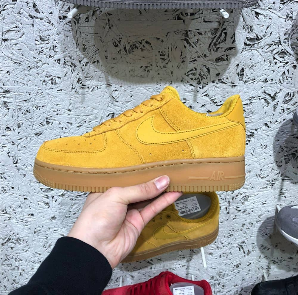 reputable site 8413d 0f083 長年人気のあるフォースワン。スエード生地にこのカラー。かわいいです。 user. NIKE WMNS AIR FORCE 1  07 SE  MINERAL YELLOW MINERAL ...